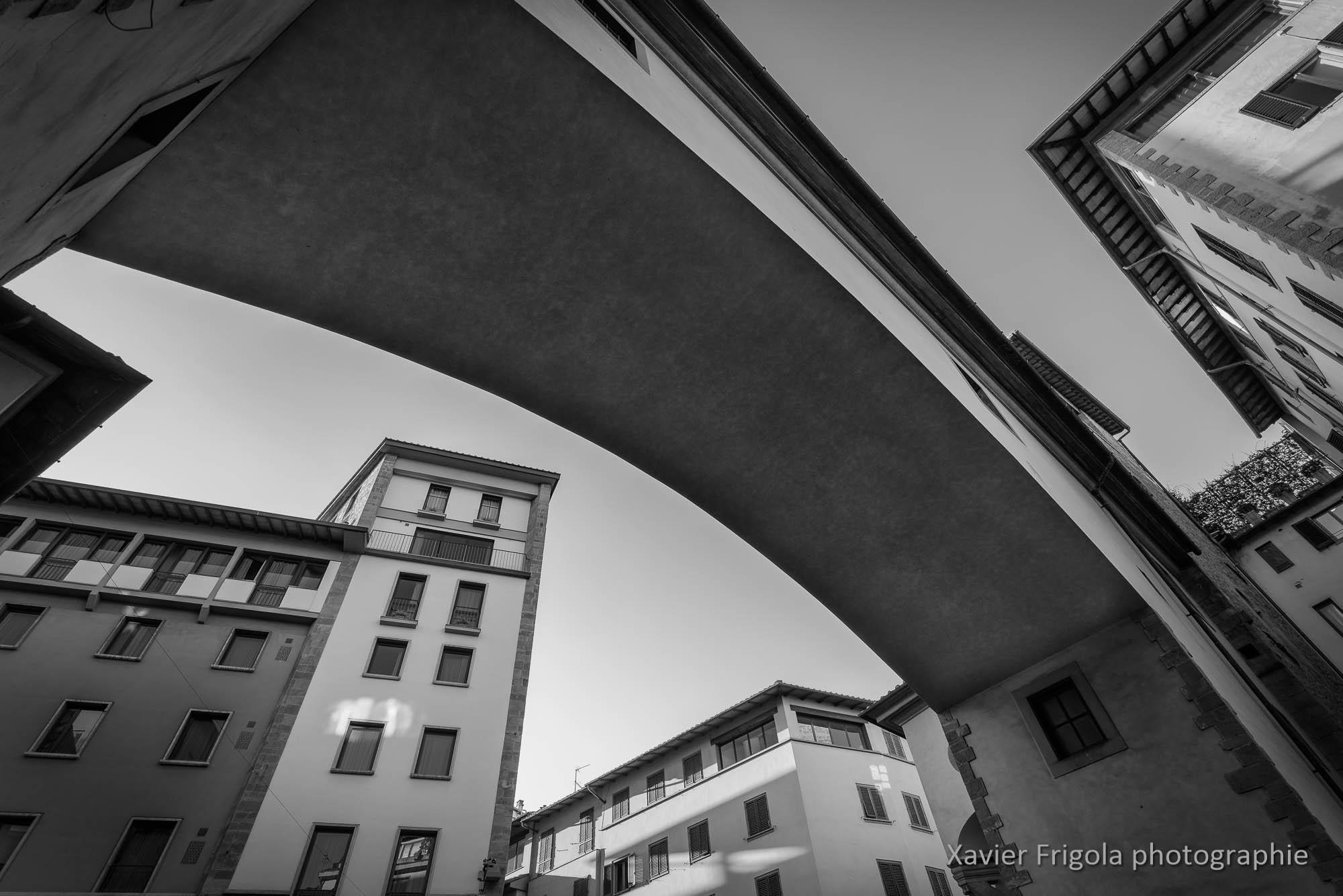 Perspective sur le Corridor de Vasari